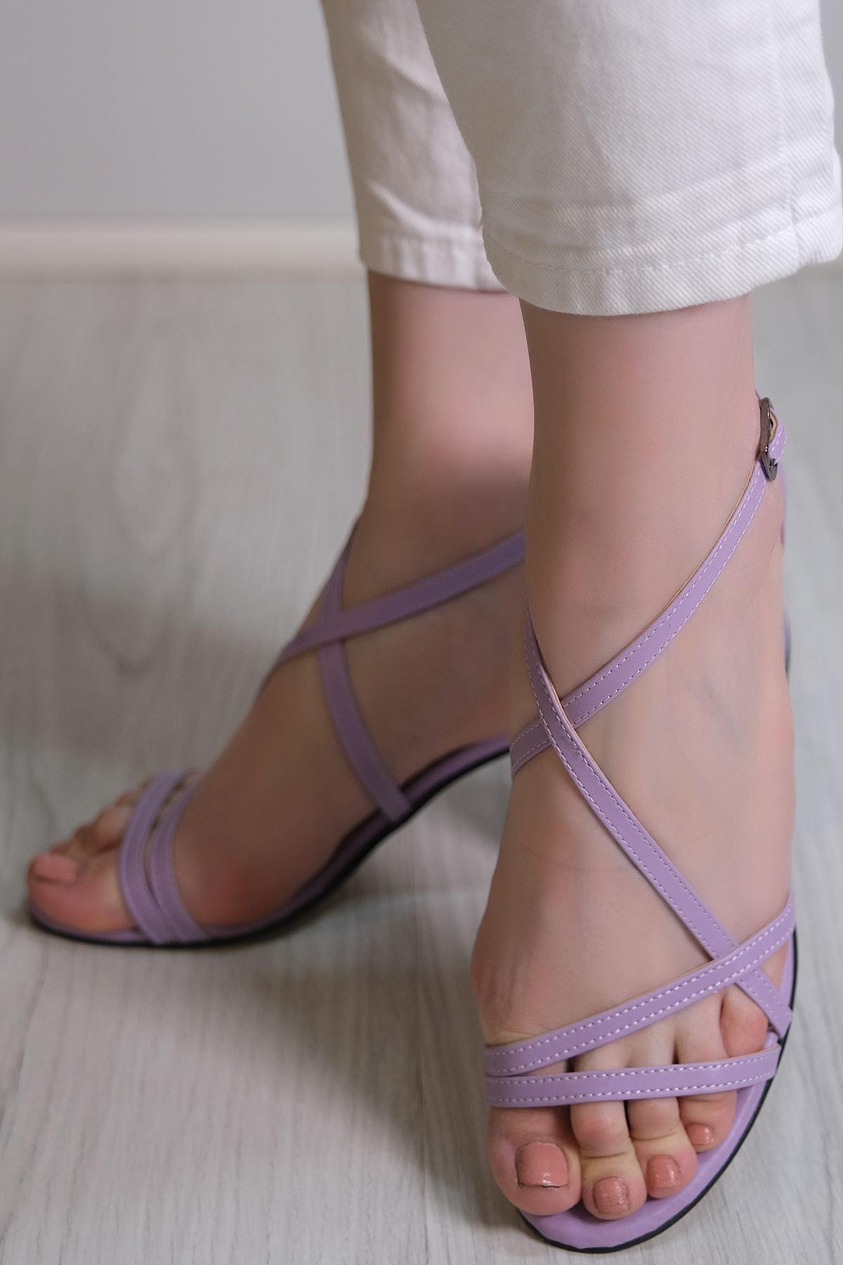 7 Cm Topuklu Ayakkabı Lila - 5786.264.