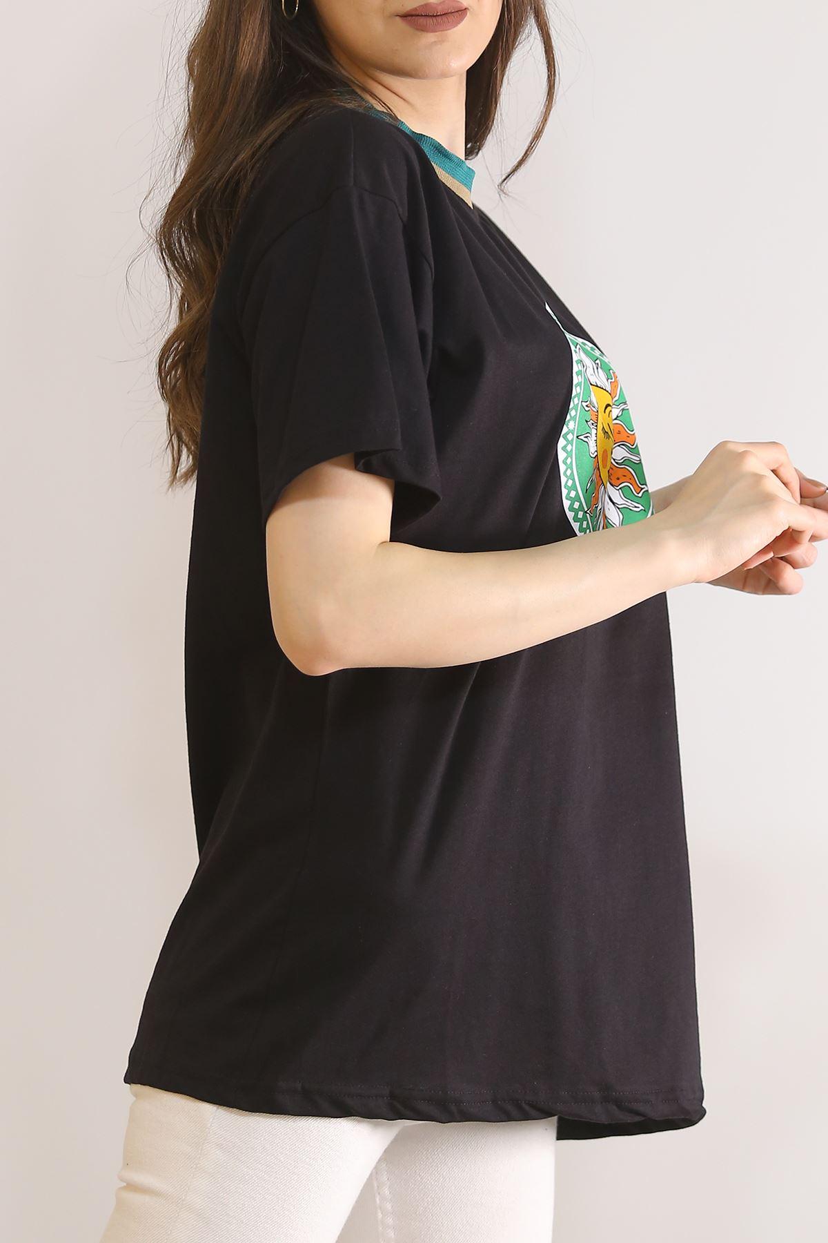 Baskılı Tişört Siyah - 5902.1377.