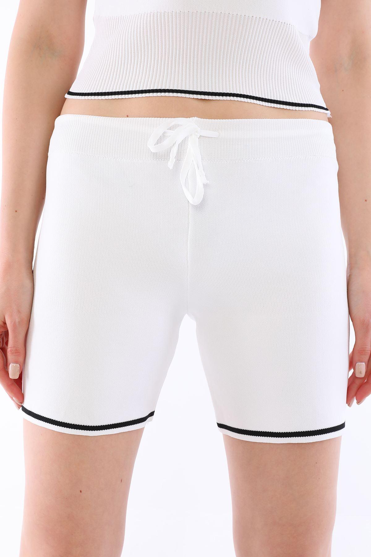 Şortlu Triko Takım Beyaz - 5925.1059.