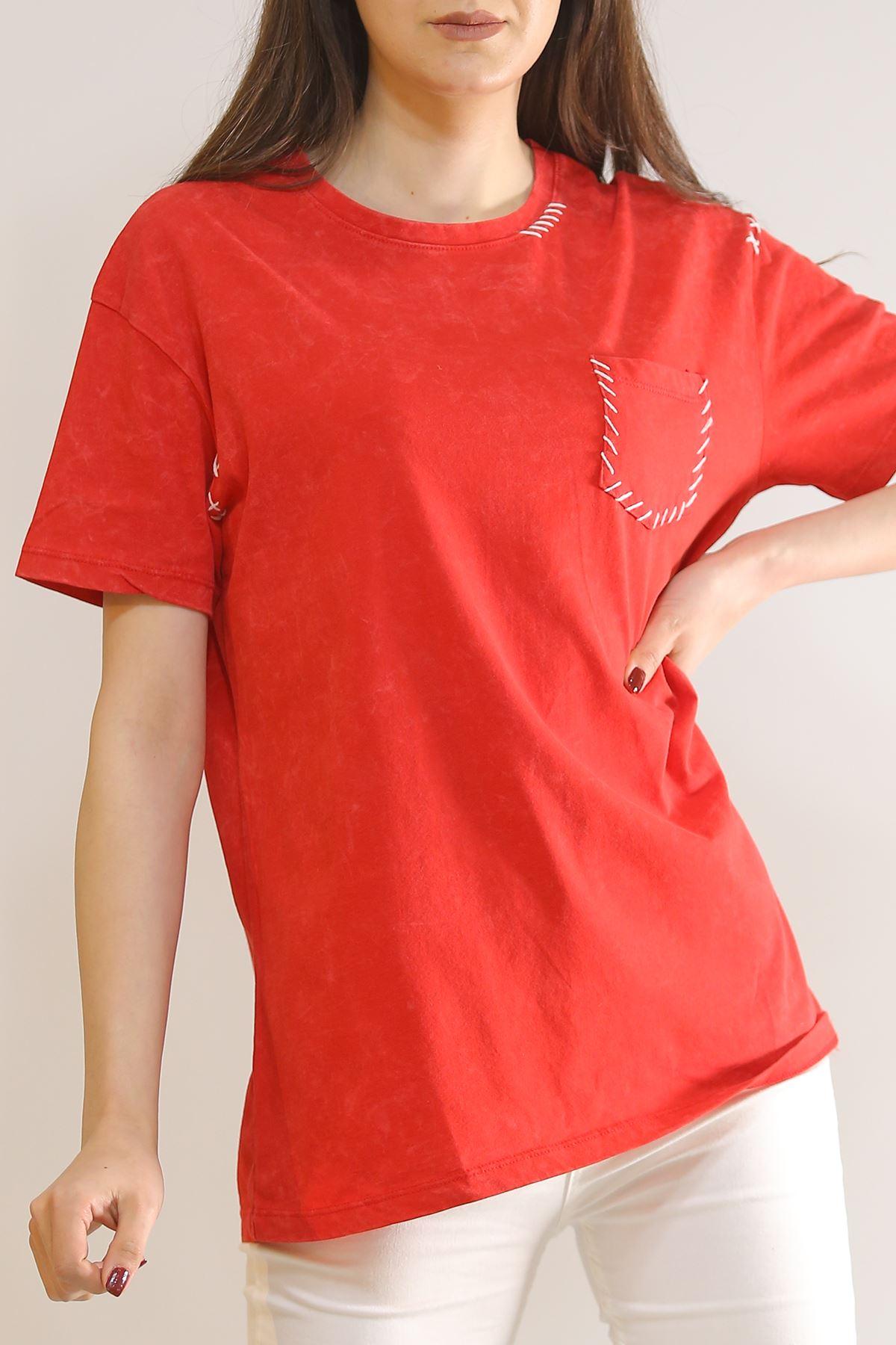 Cepli Tişört Kırmızı - 2907.196.