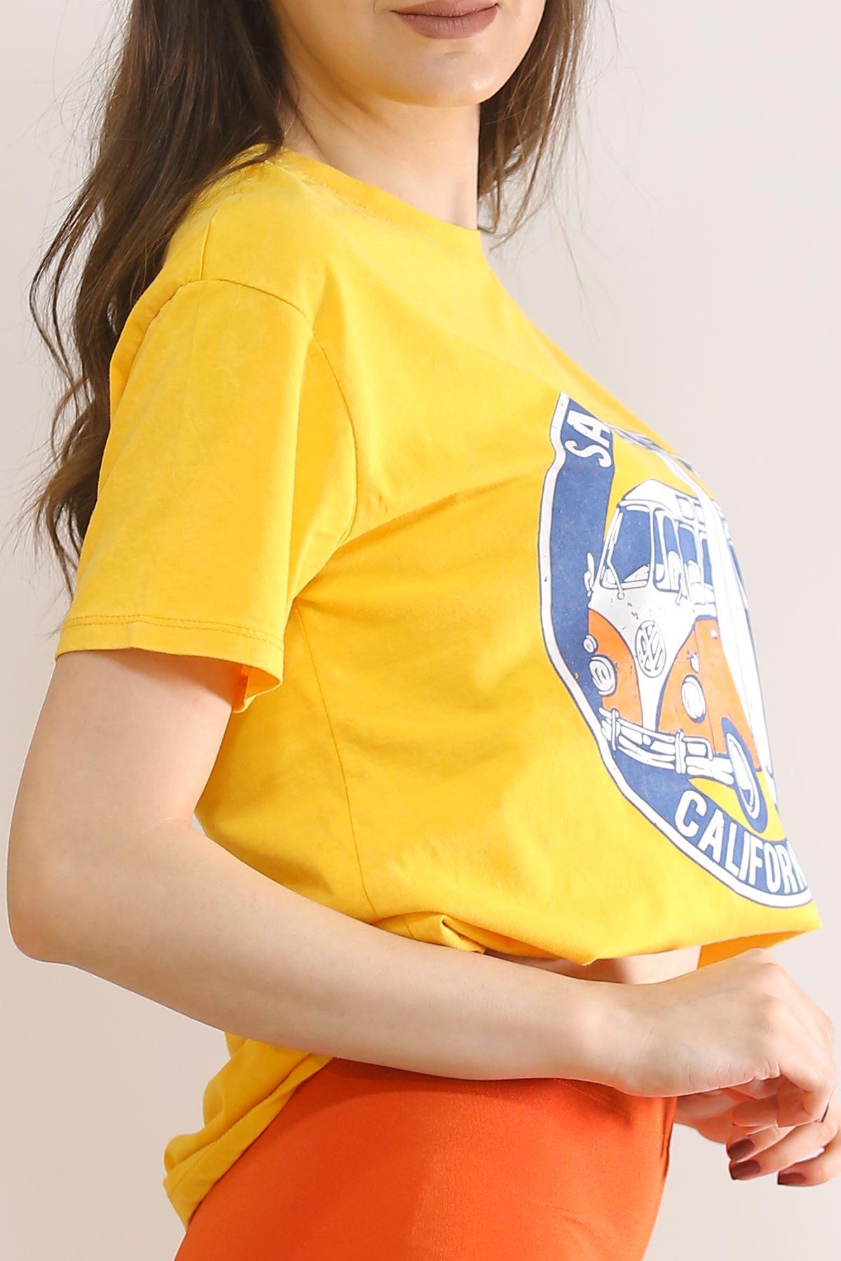 Baskılı Tişört Sarı - 3006.196.