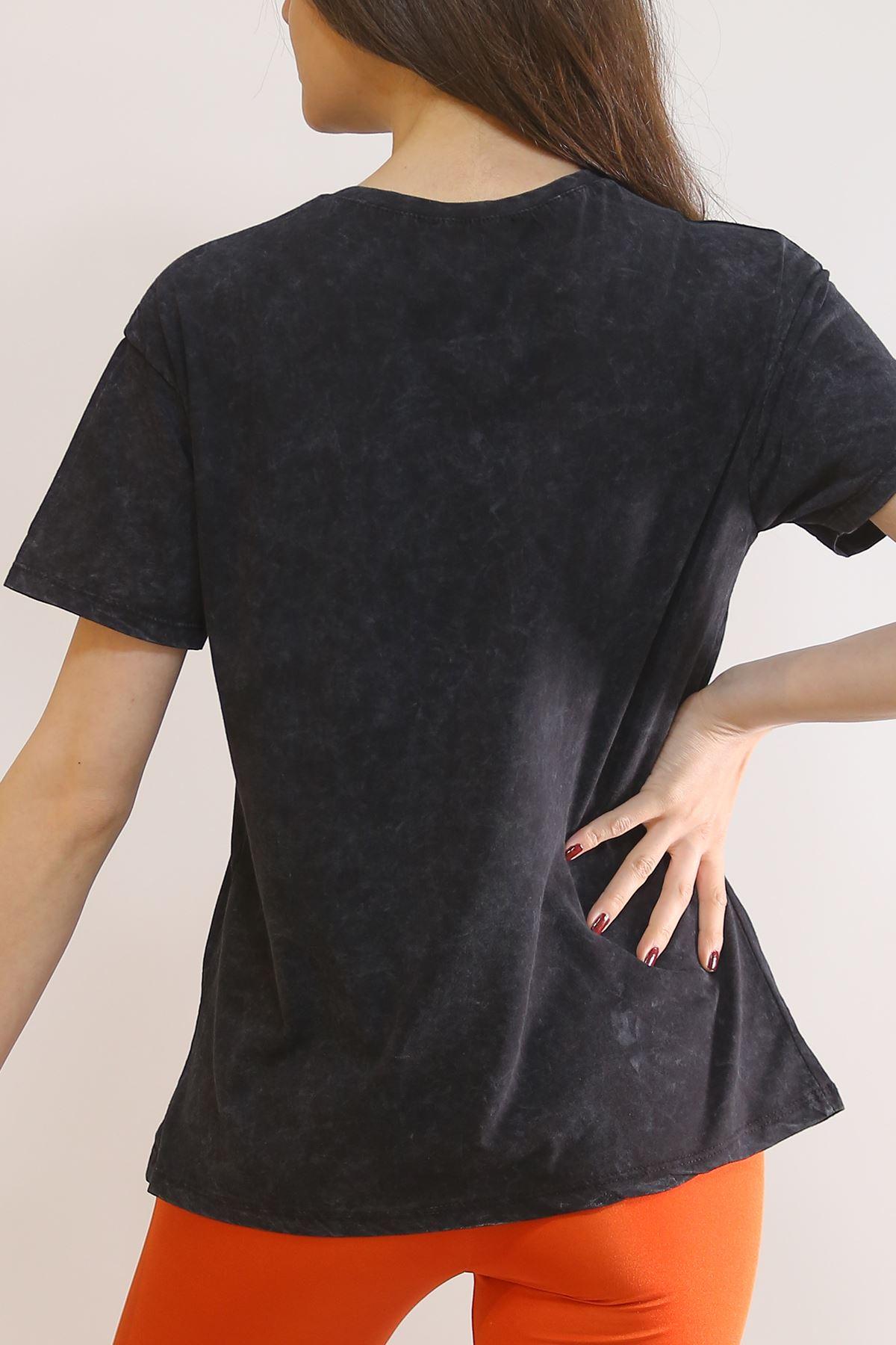 Baskılı Tişört Siyah - 3006.196.