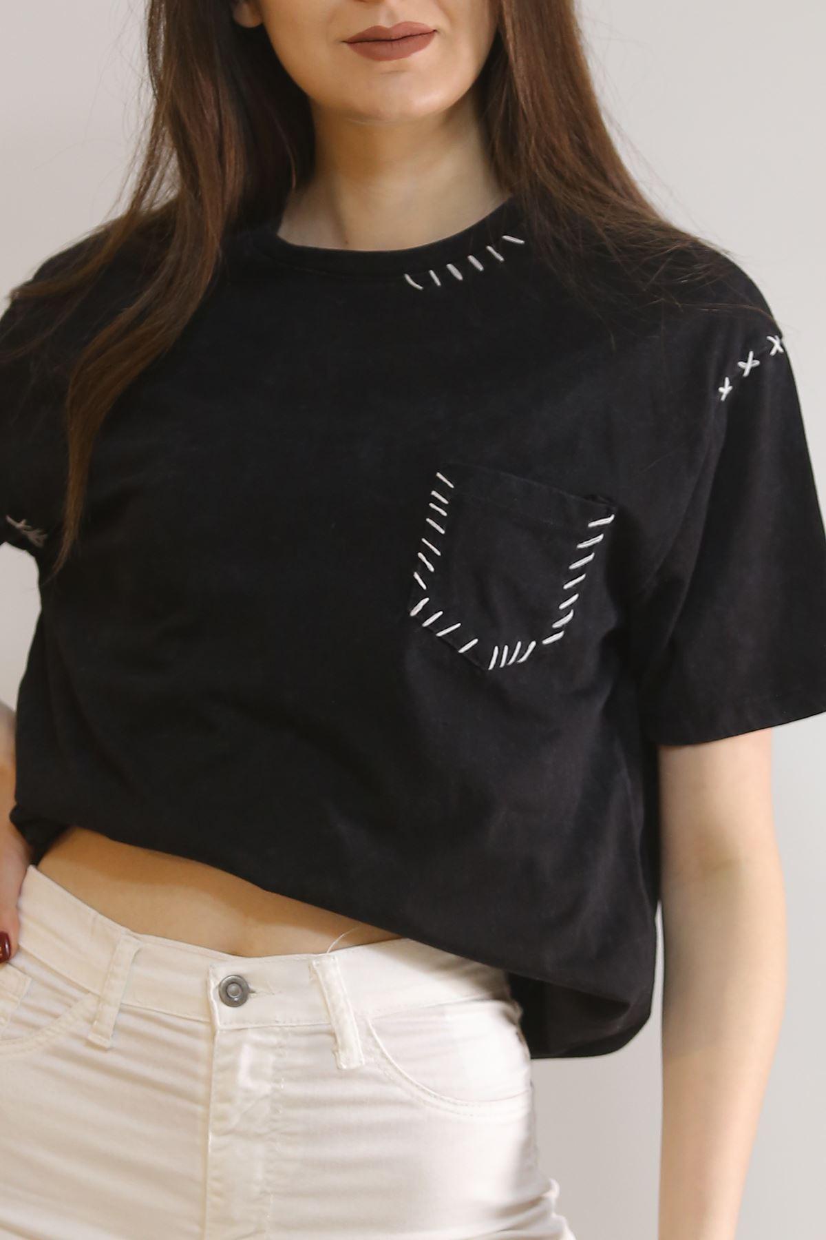 Cepli Tişört Siyah - 2907.196.
