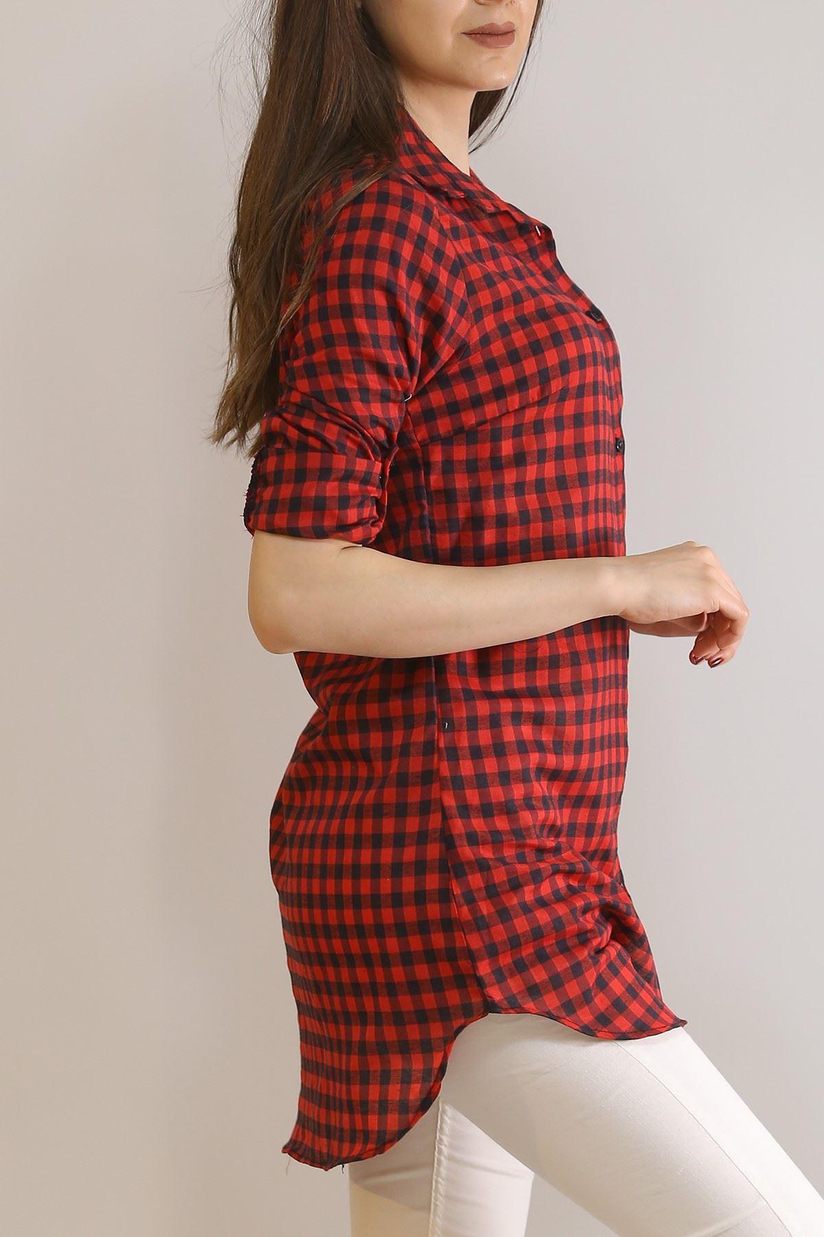 Tunik Gömlek Kırmızıkareli - 5905.1376.
