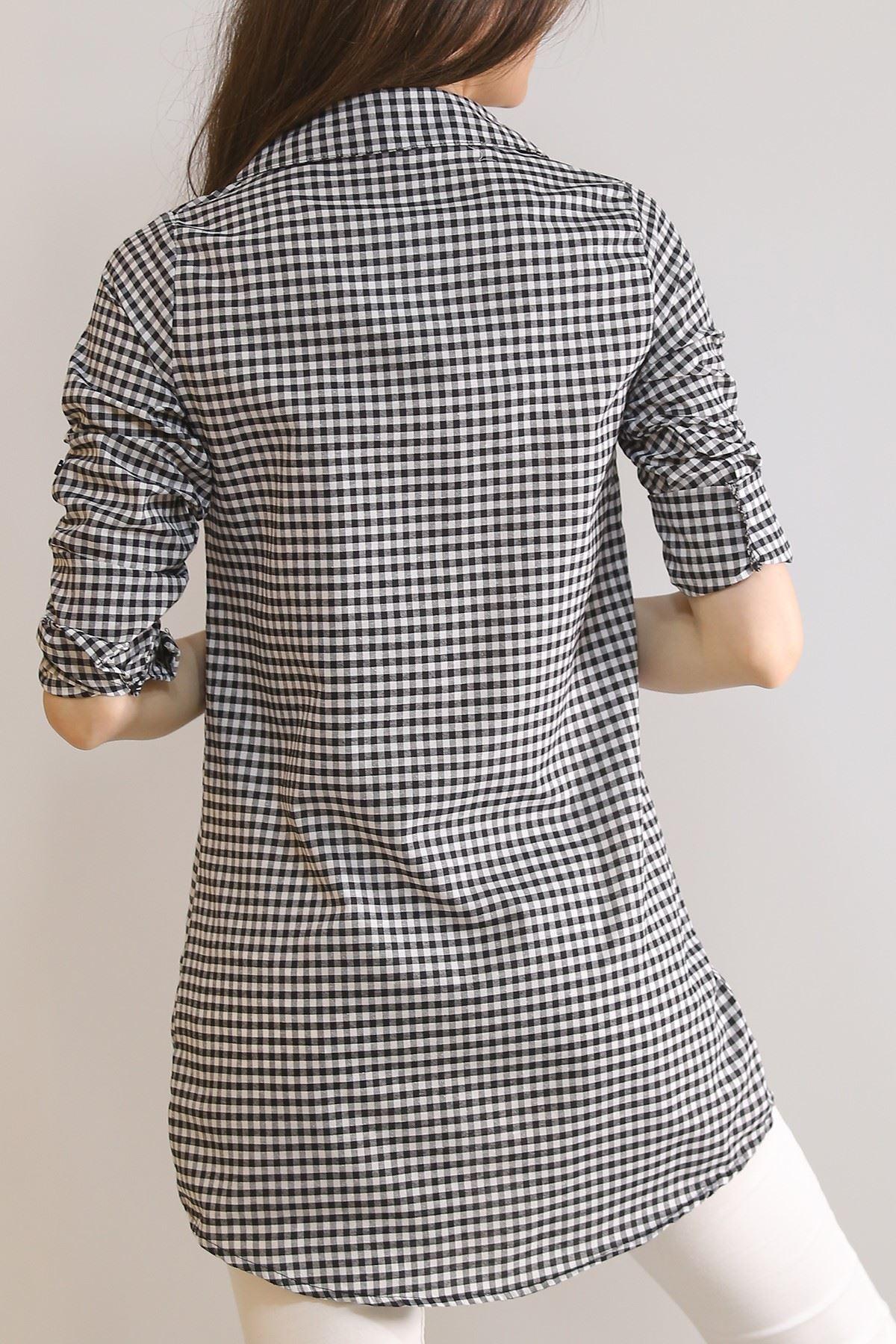 Tunik Gömlek Siyah - 5905.1376.