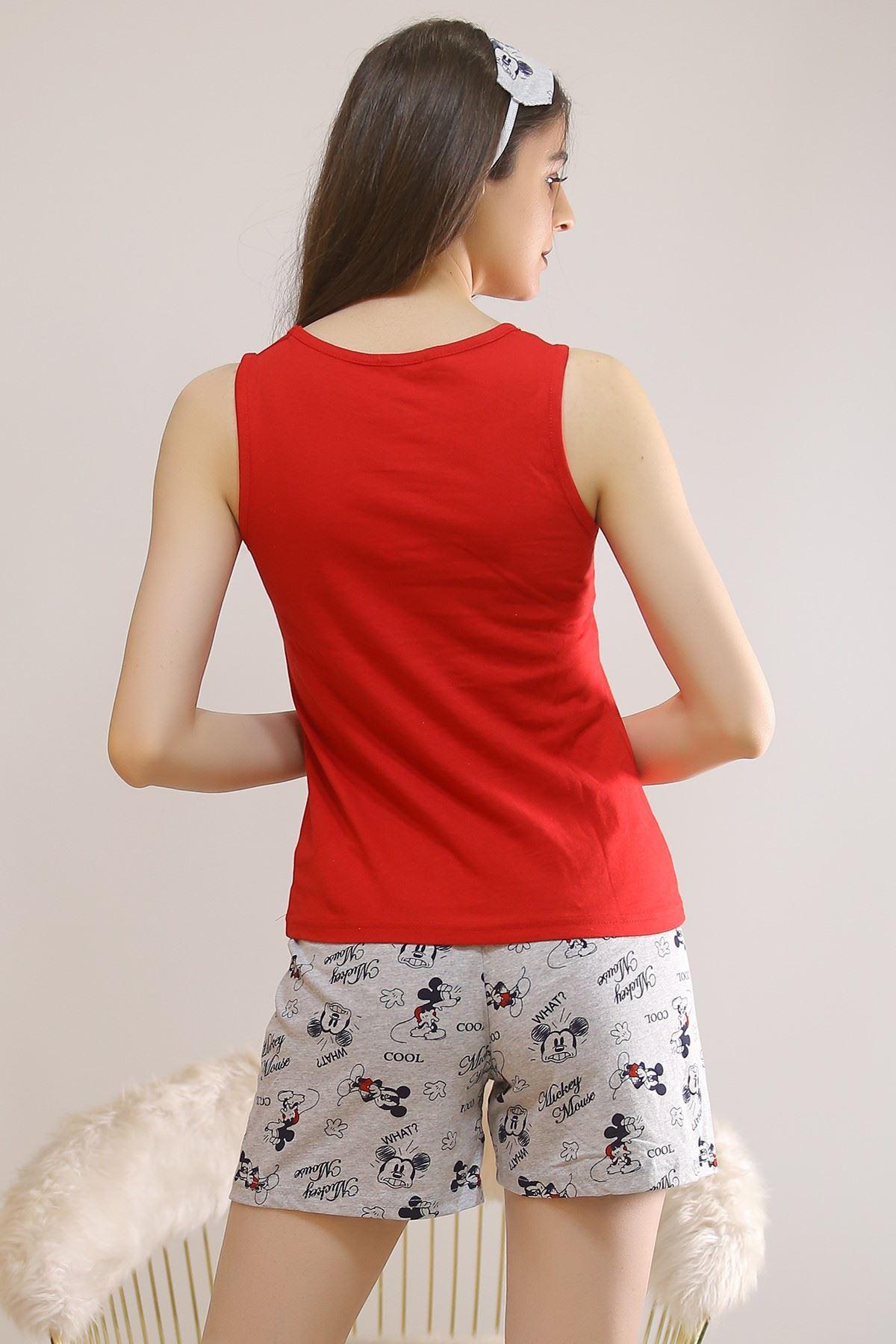 Şortlu Pijama Takımı Kırmızı - 5927.1059.