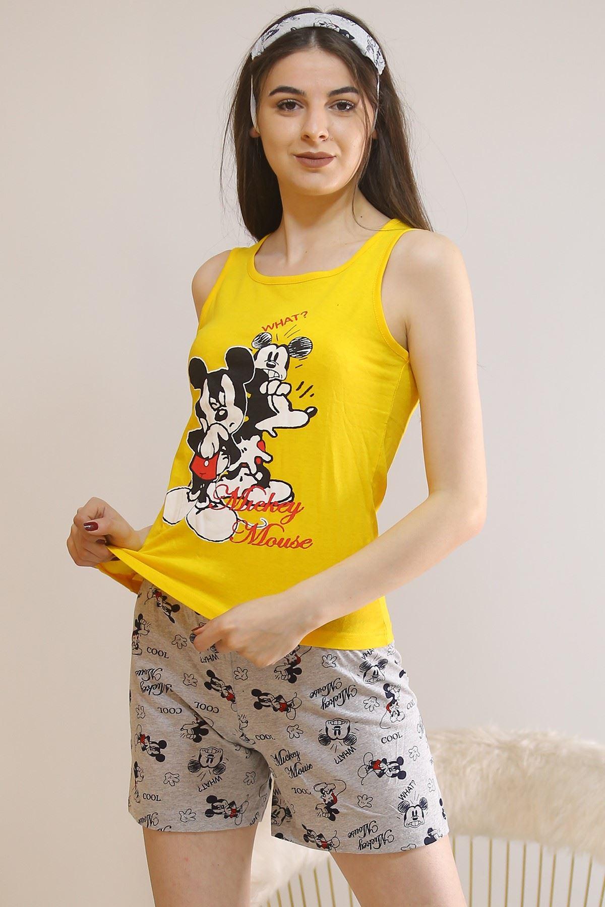 Şortlu Pijama Takımı Sarı - 5927.1059.