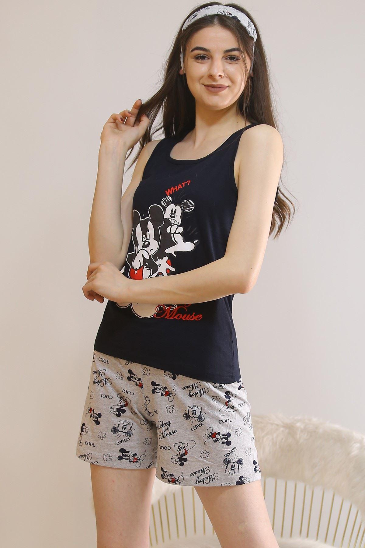 Şortlu Pijama Takımı Siyah - 5927.1059.
