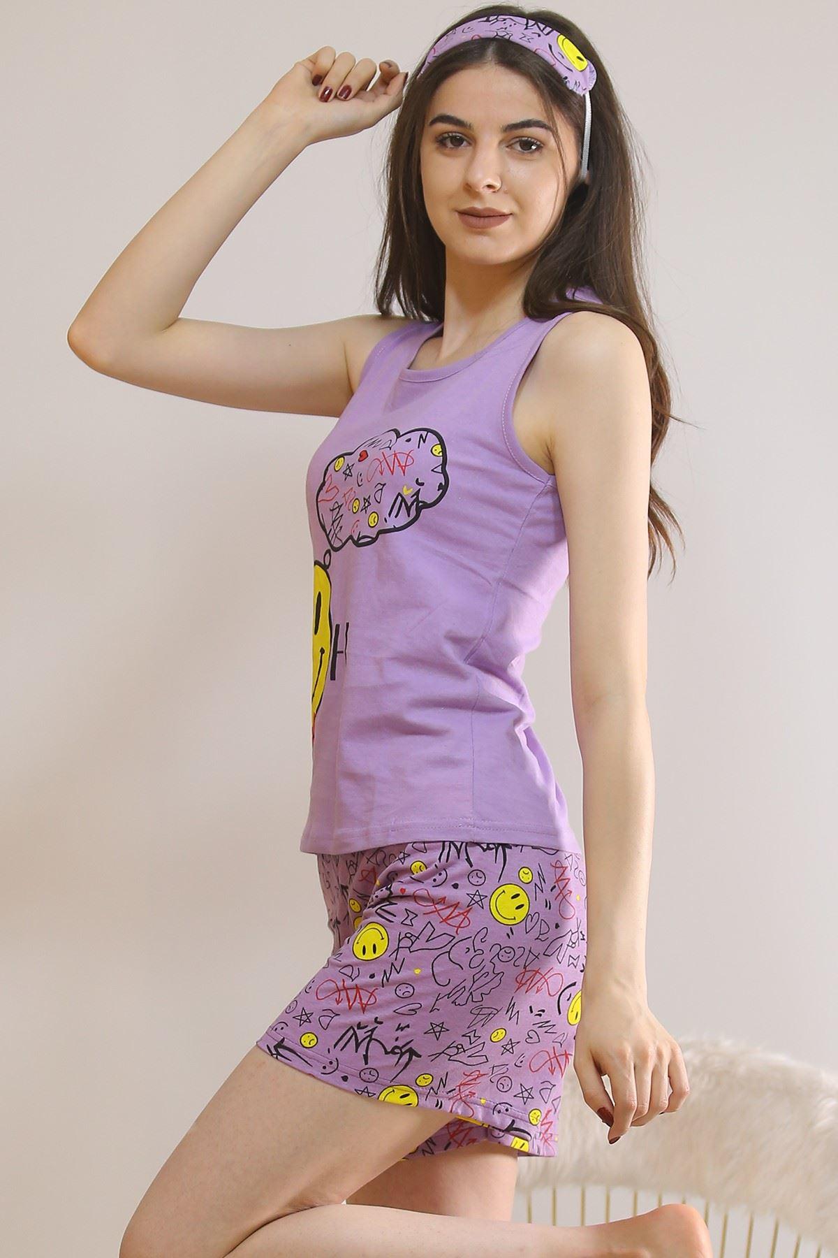 Şortlu Pijama Takımı Lila - 5932.1059.