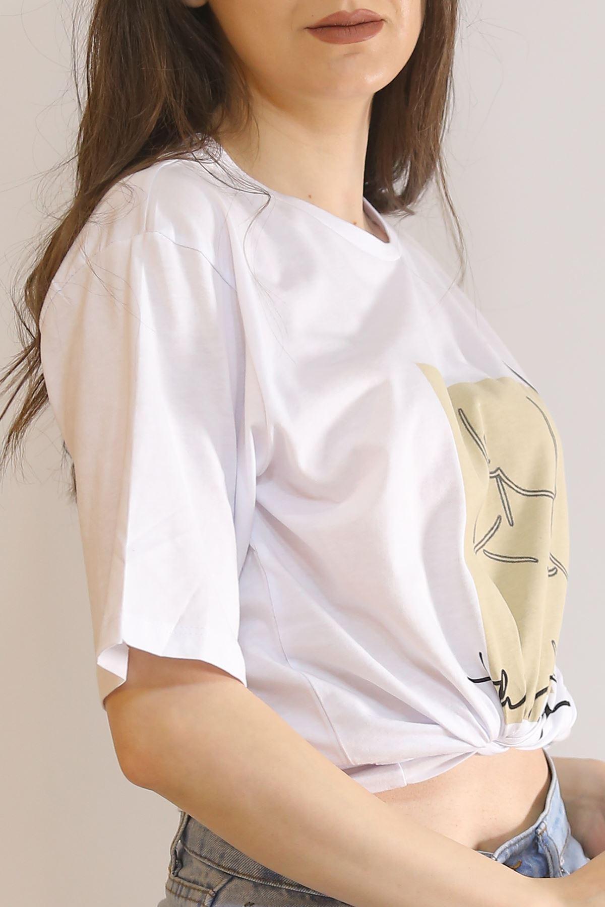 Baskılı Tişört Beyaz - 11041.275.