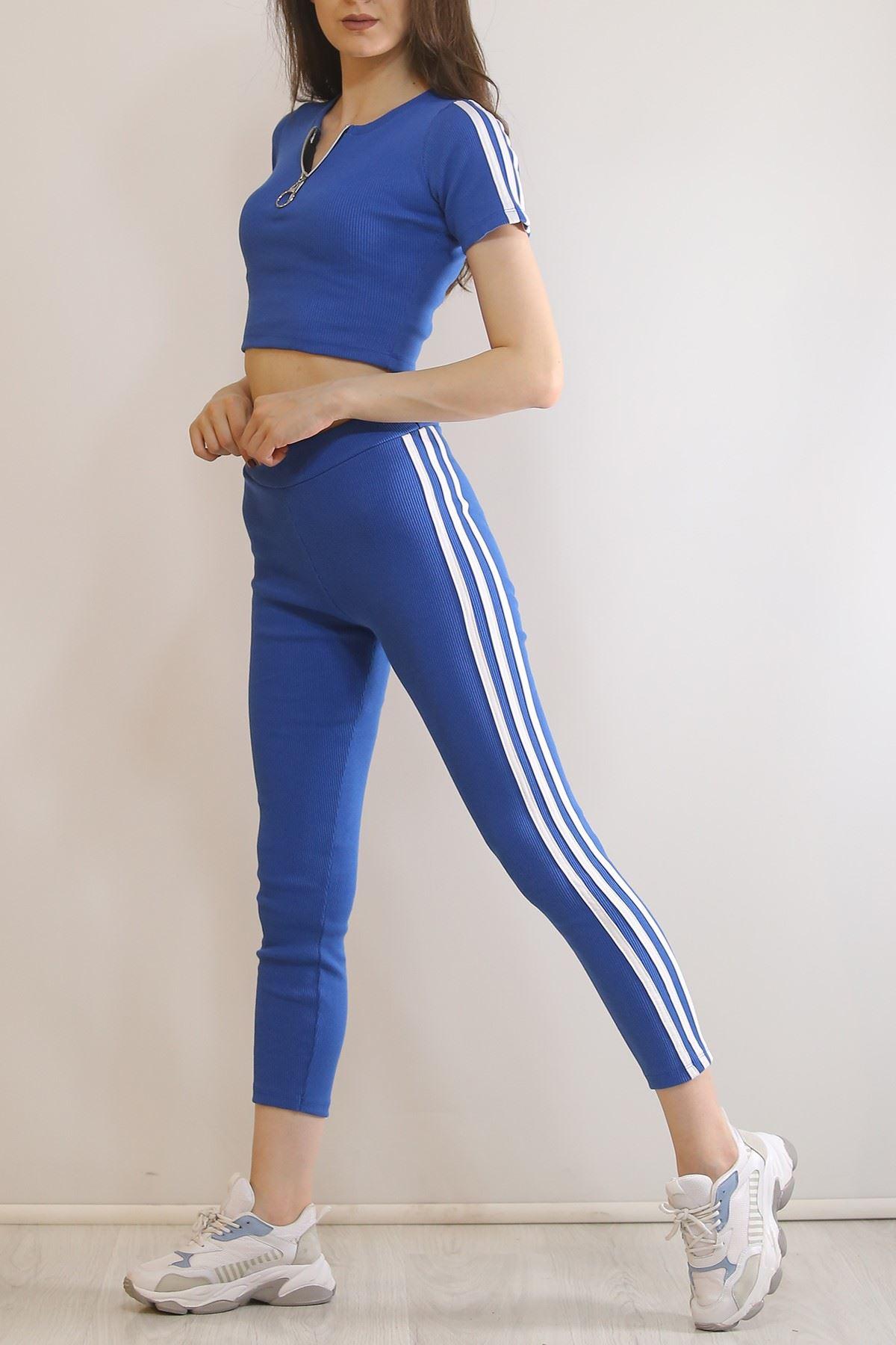 Şeritli Tayt Takım Mavi - 5342.316.