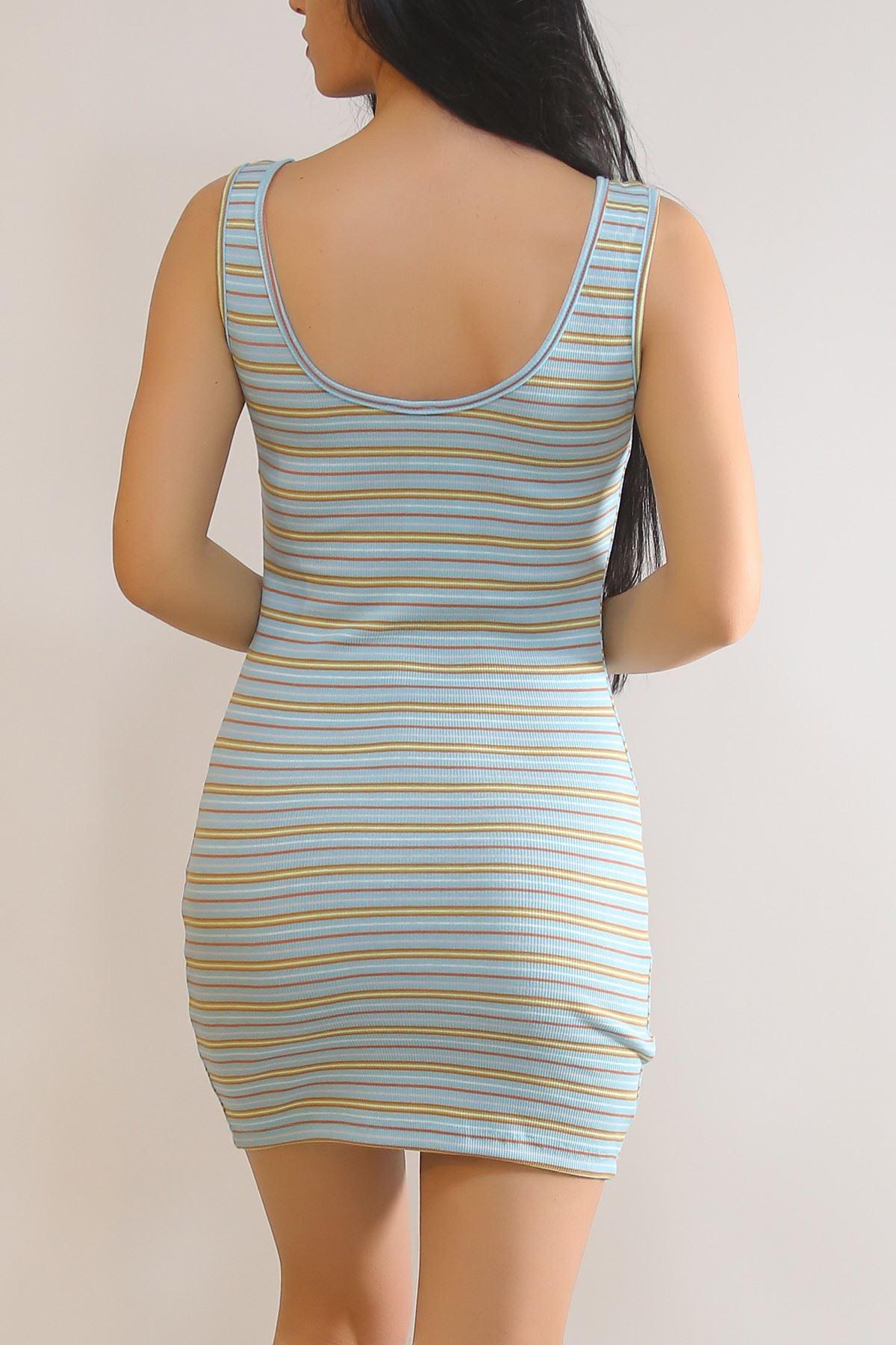Kalın Askılı Elbise Açıkmavi - 5938.1092.