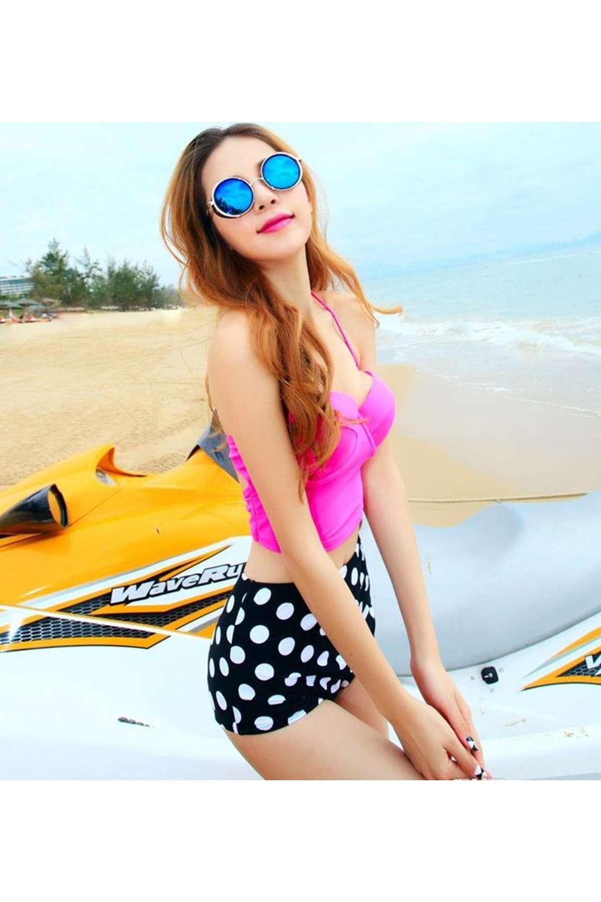 Renk Garnili Bikini Pembe - 40646.1364.