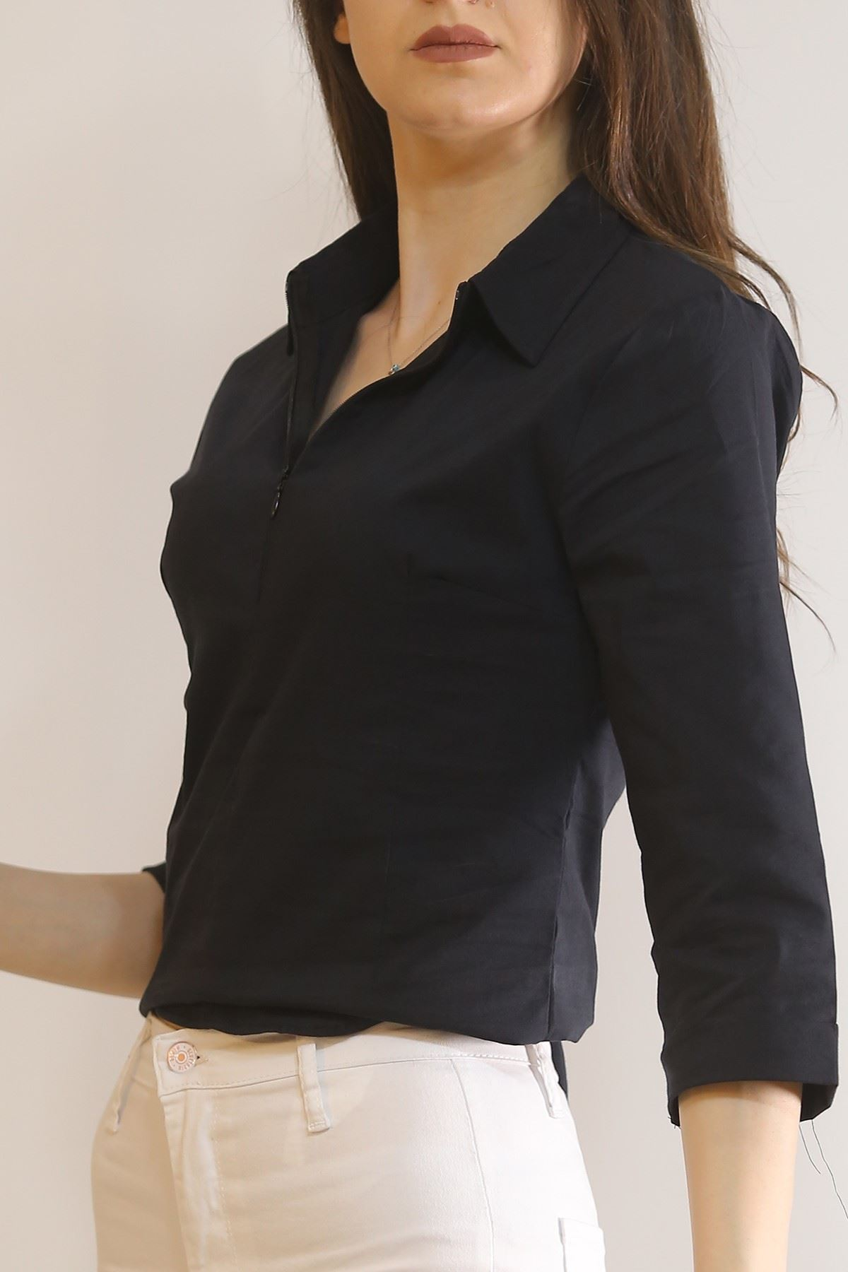 Likralı Slim Fit Gömlek Siyah - 2315.159.
