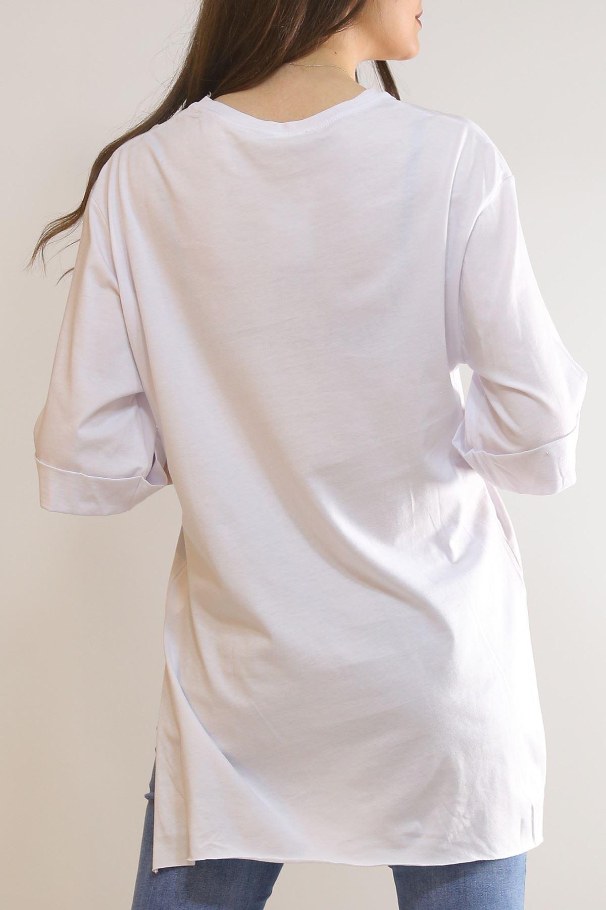 Mood Baskılı Tunik Beyaz - 3276.222.