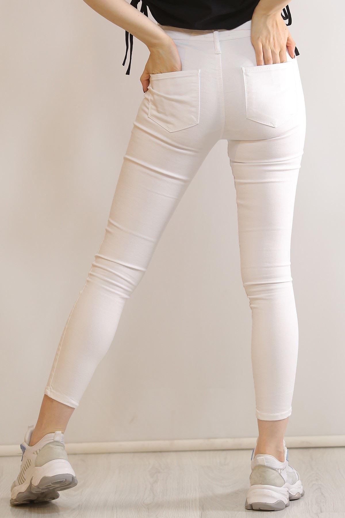 Cepsiz Dar Kot Pantolon Beyaz - 5661.299.
