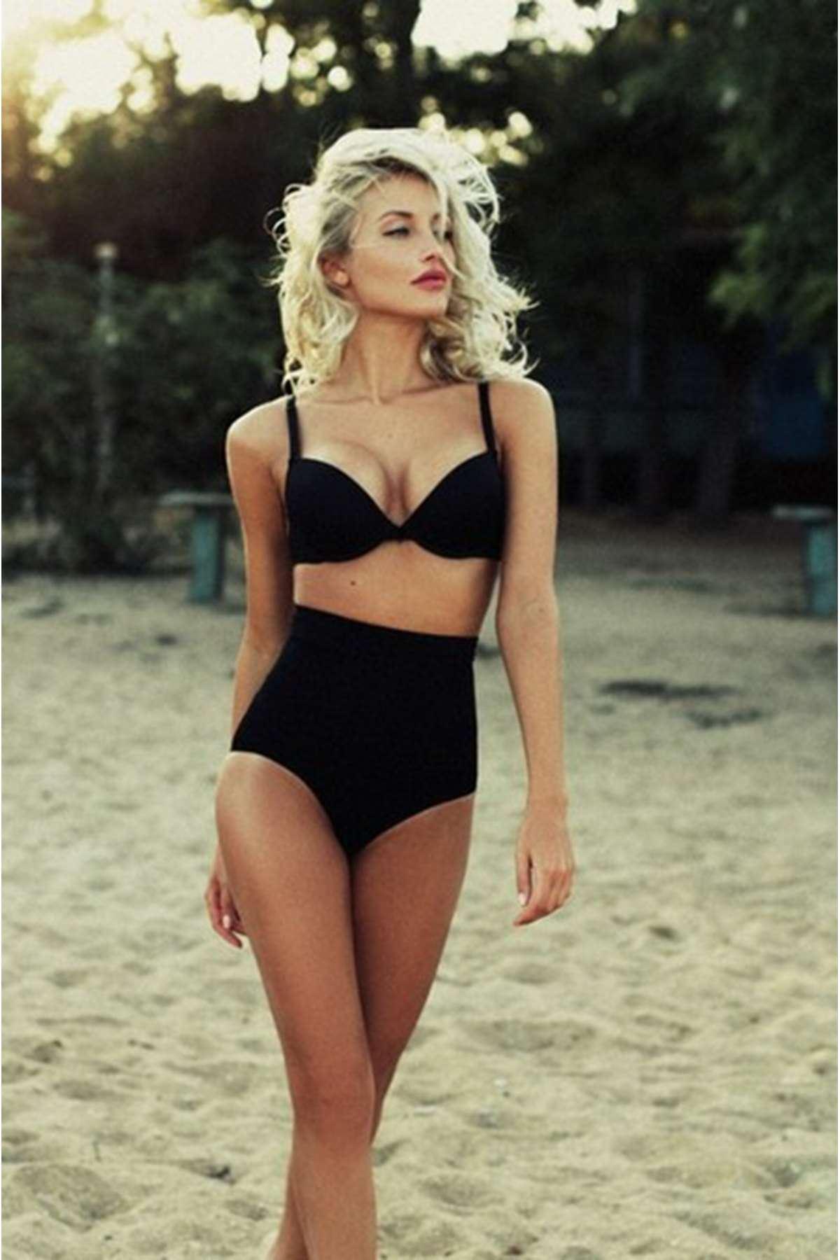 Yüksek Bel Bikini Siyah - 41222.1364.