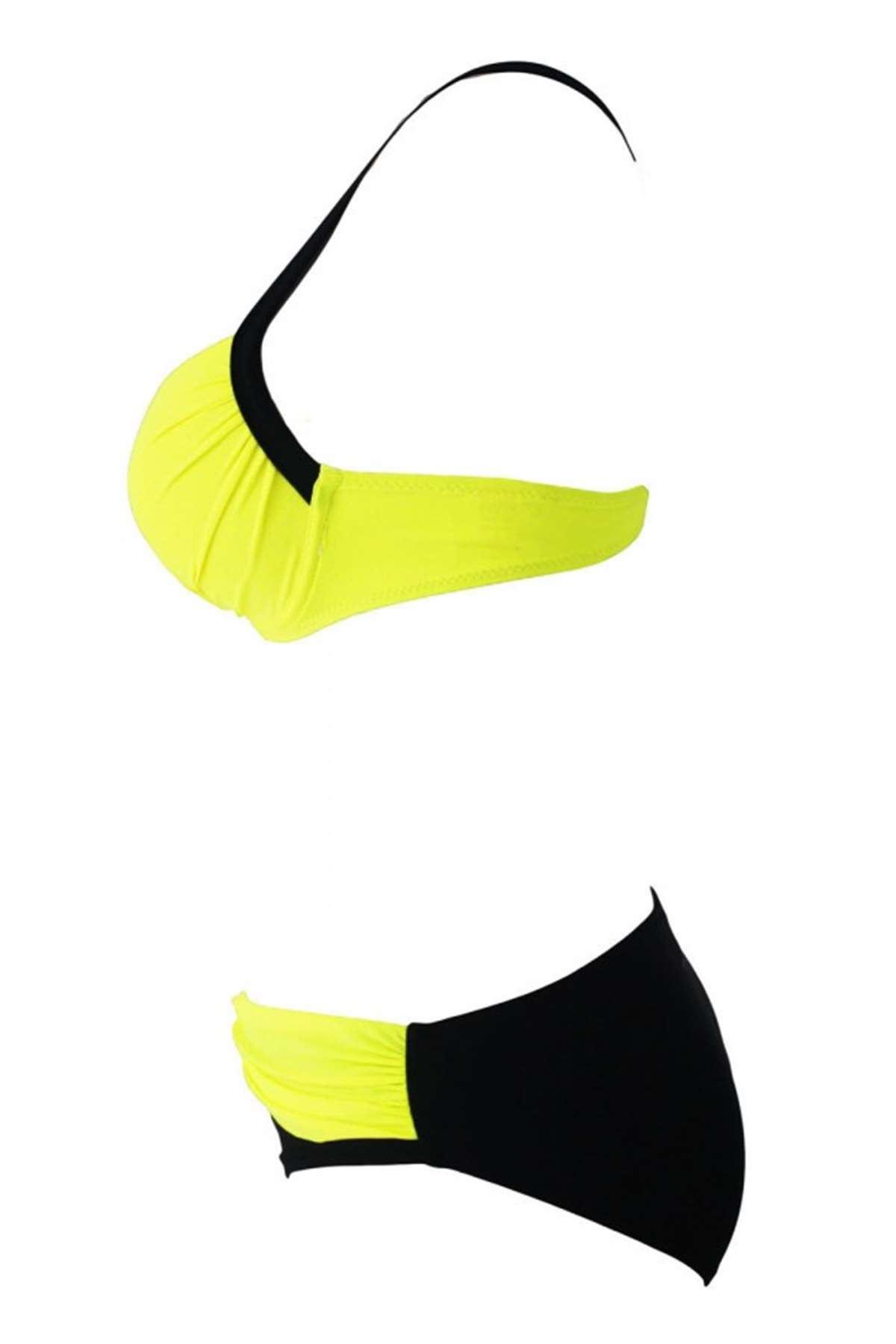 Sırtı Çapraz Bikini Sarı - 41077.1364.