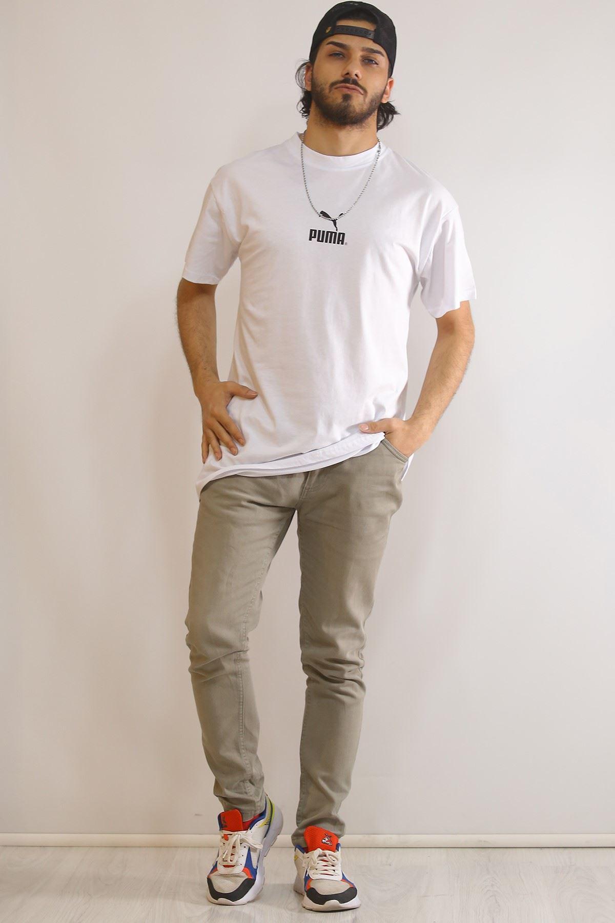 Arka Baskılı Tişört Beyaz - 5967.1377.