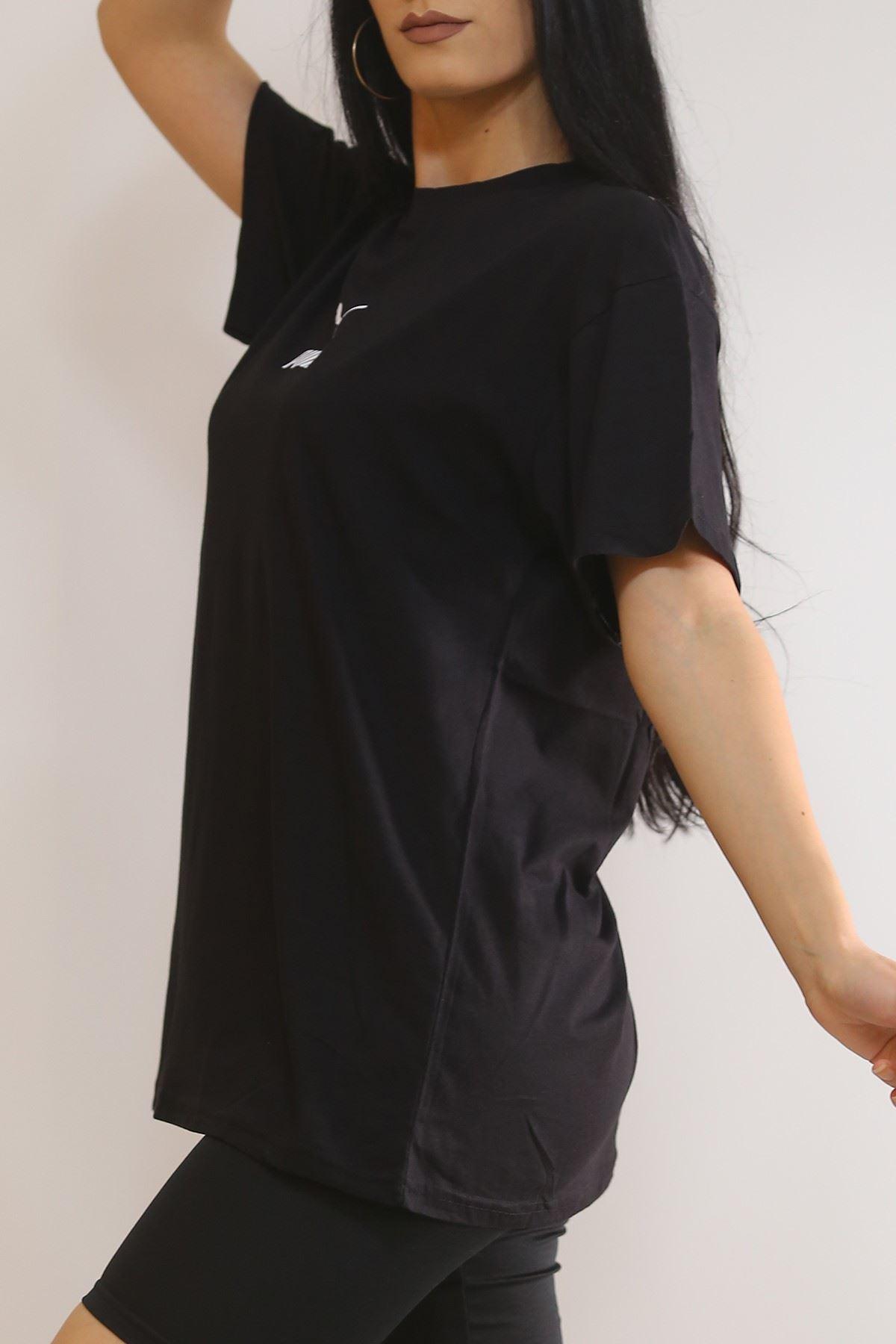 Arka Baskılı Tişört Siyah - 5967.1377.