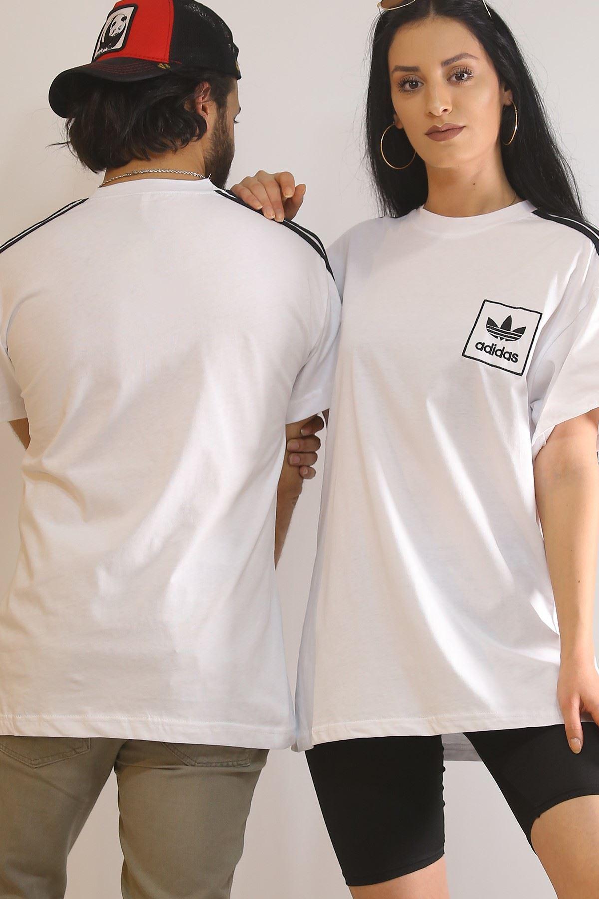Nakışlı Tişört Beyaz - 5970.1377.
