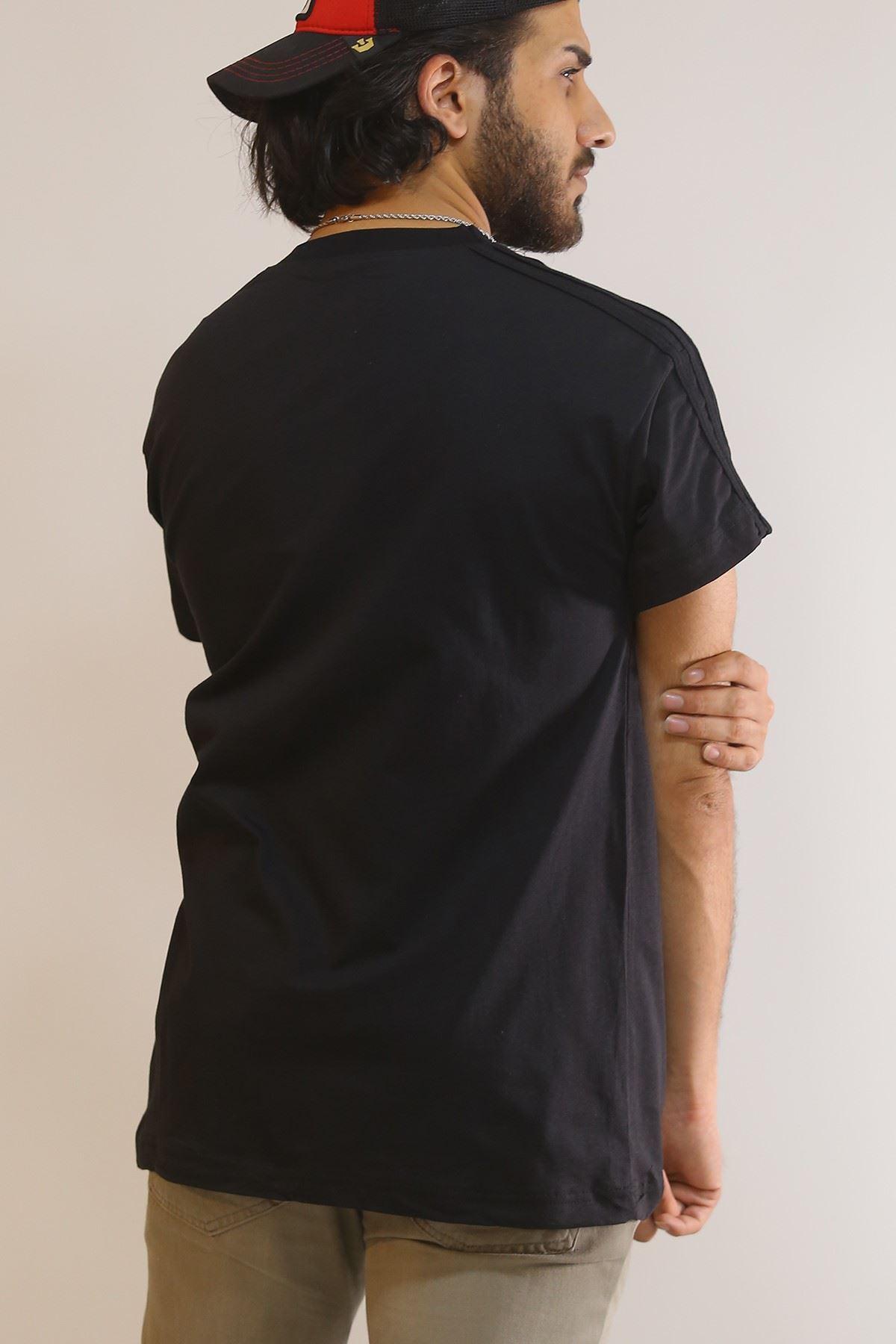 Nakışlı Tişört Siyah - 5970.1377.