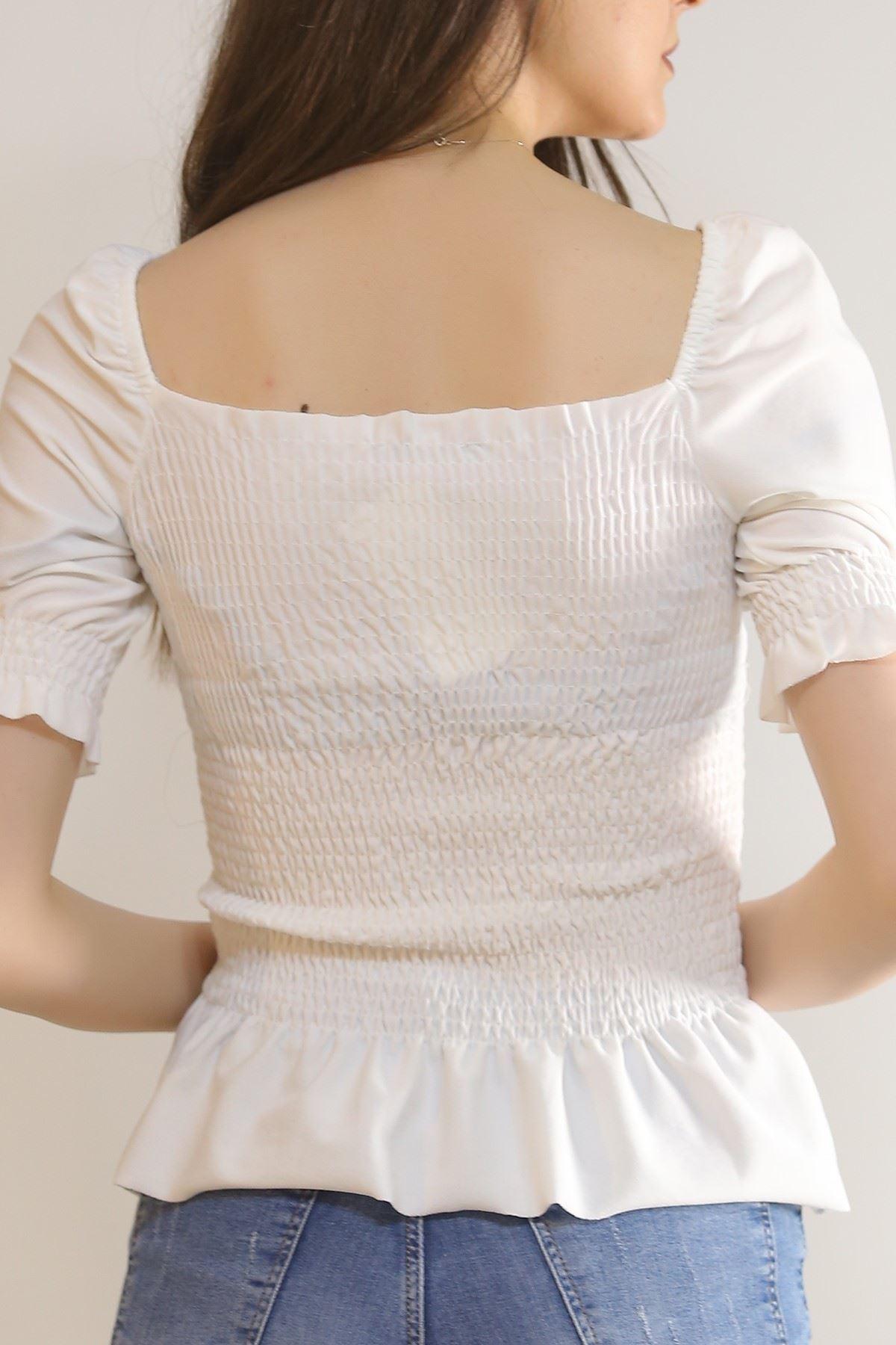 Gipeli Bluz Beyaz - 6704.224.