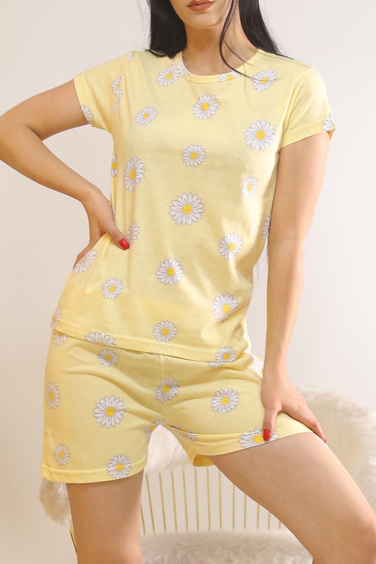 Şortlu Pijama Takımı Sarı - 5995.1287.