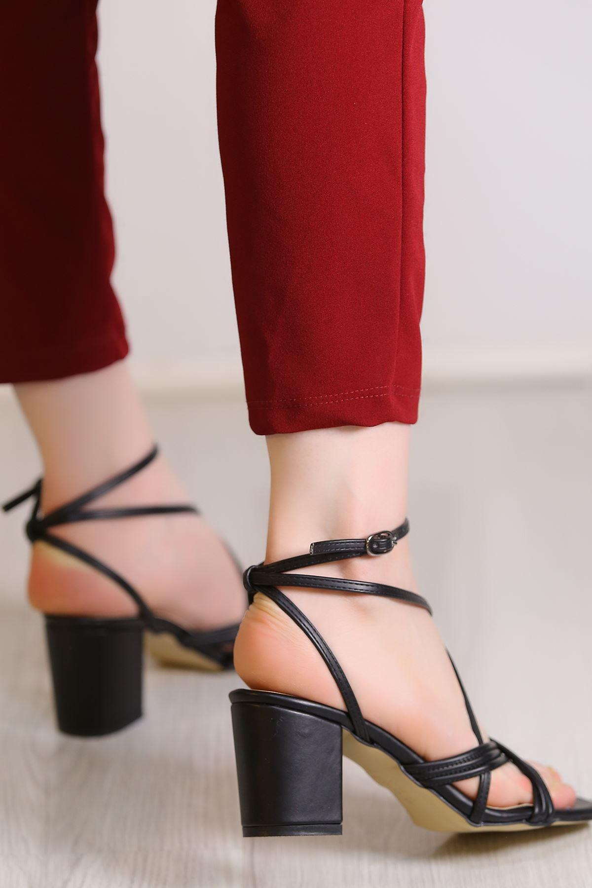 7 Cm Topuklu Ayakkabı Siyahderi - 5438.264.