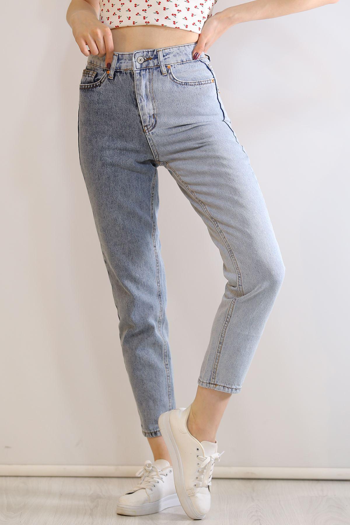 İki Renk Paça Kesik Kot Pantolon Kot - 6029.392.