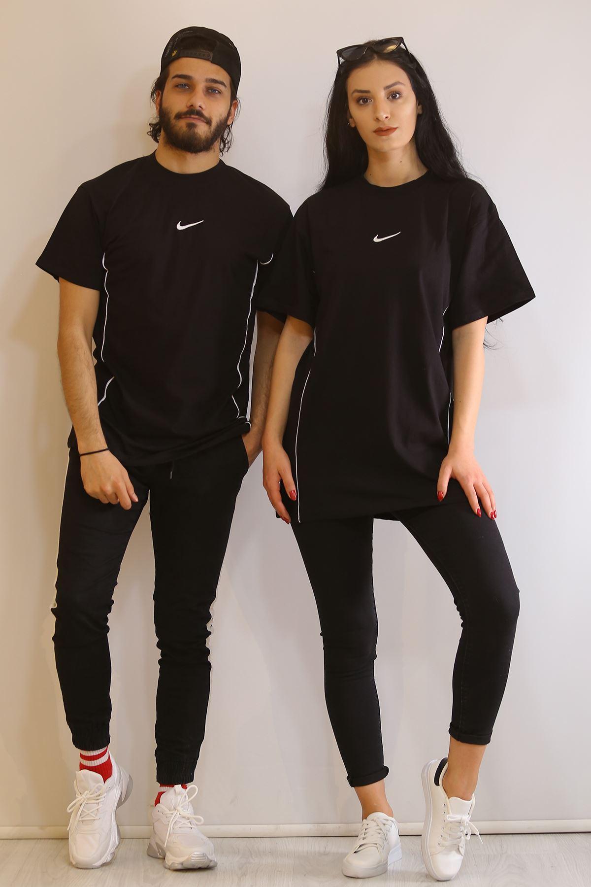 Biyeli Tişört Siyah - 6056.1377.
