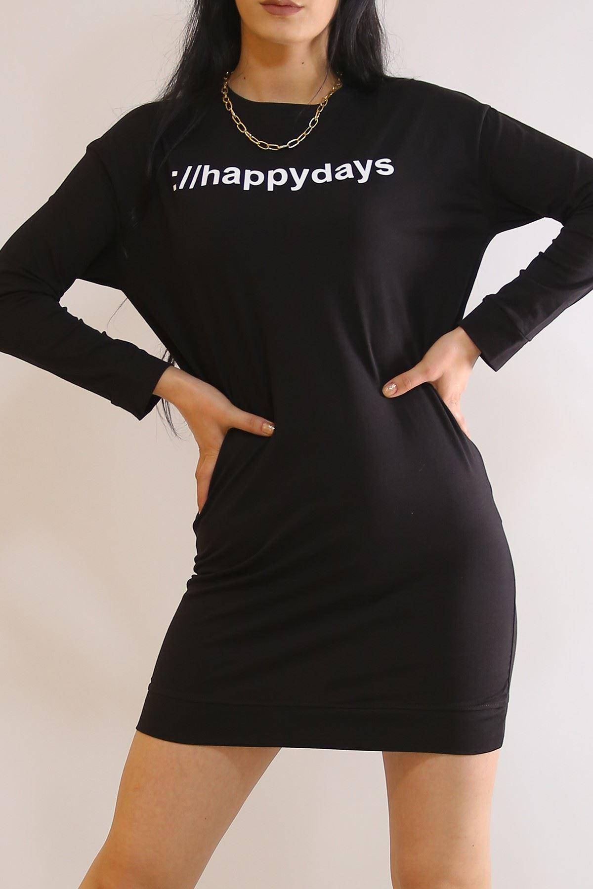 Happydays Baskılı Tunik Siyah - 19801.200.