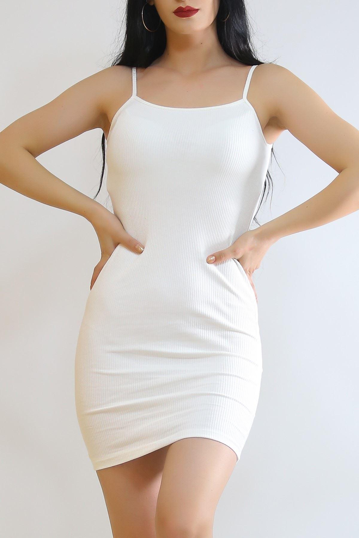 İp Askılı Elbise Ekru - 6089.316.