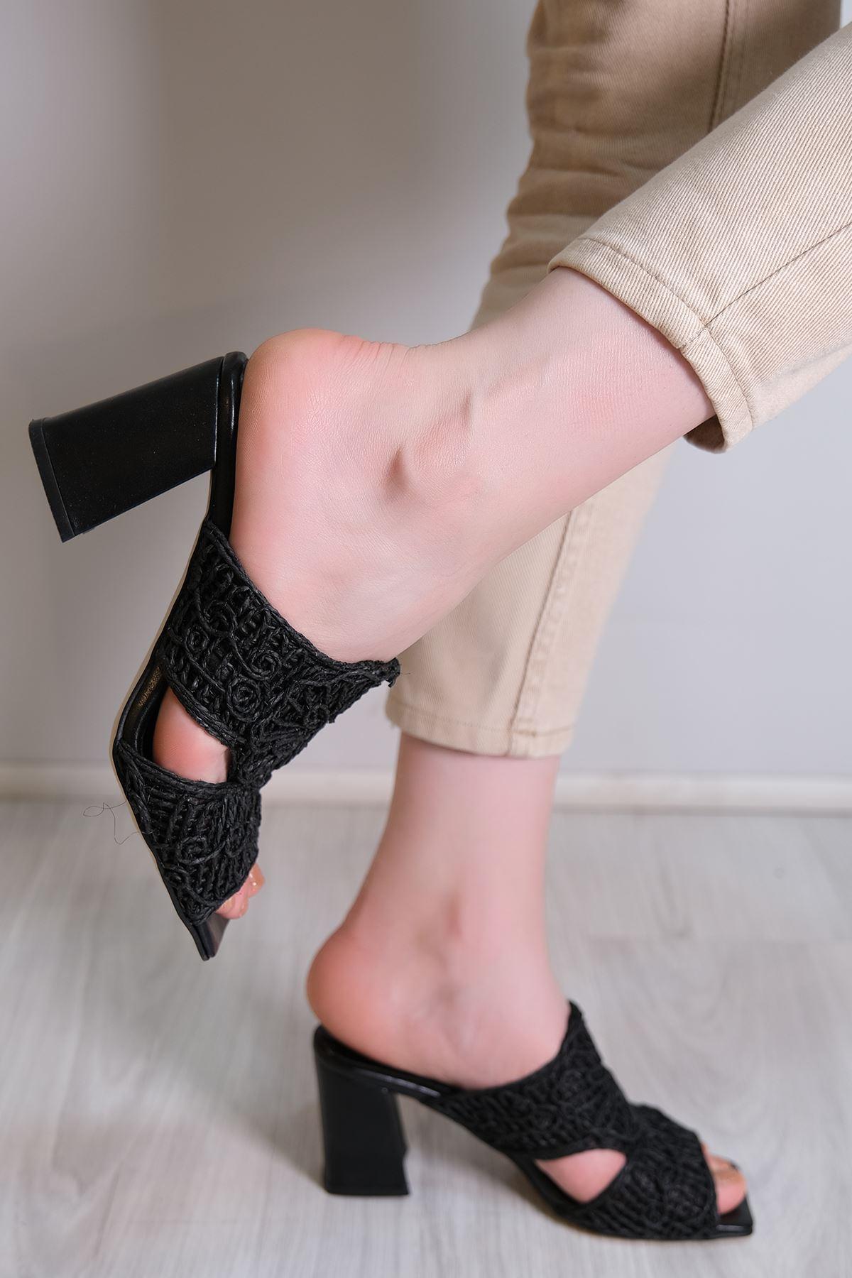 7 Cm Topuklu Ayakkabı Siyah - 6086.264.