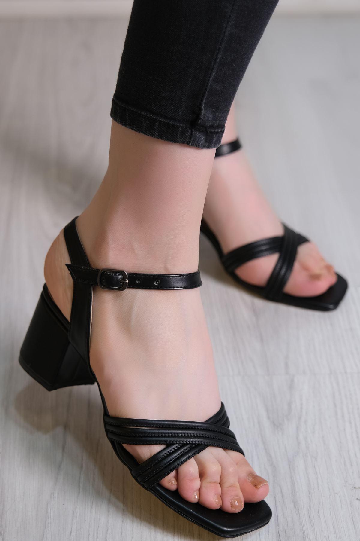 5 Cm Topuklu Ayakkabı Siyahderi - 6122.264.