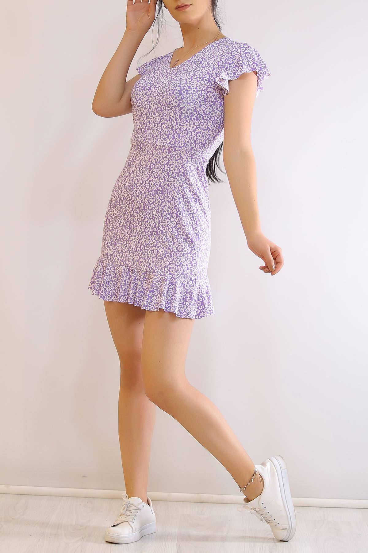 Altı Fırfırlı Elbise Leylak - 2255.555.