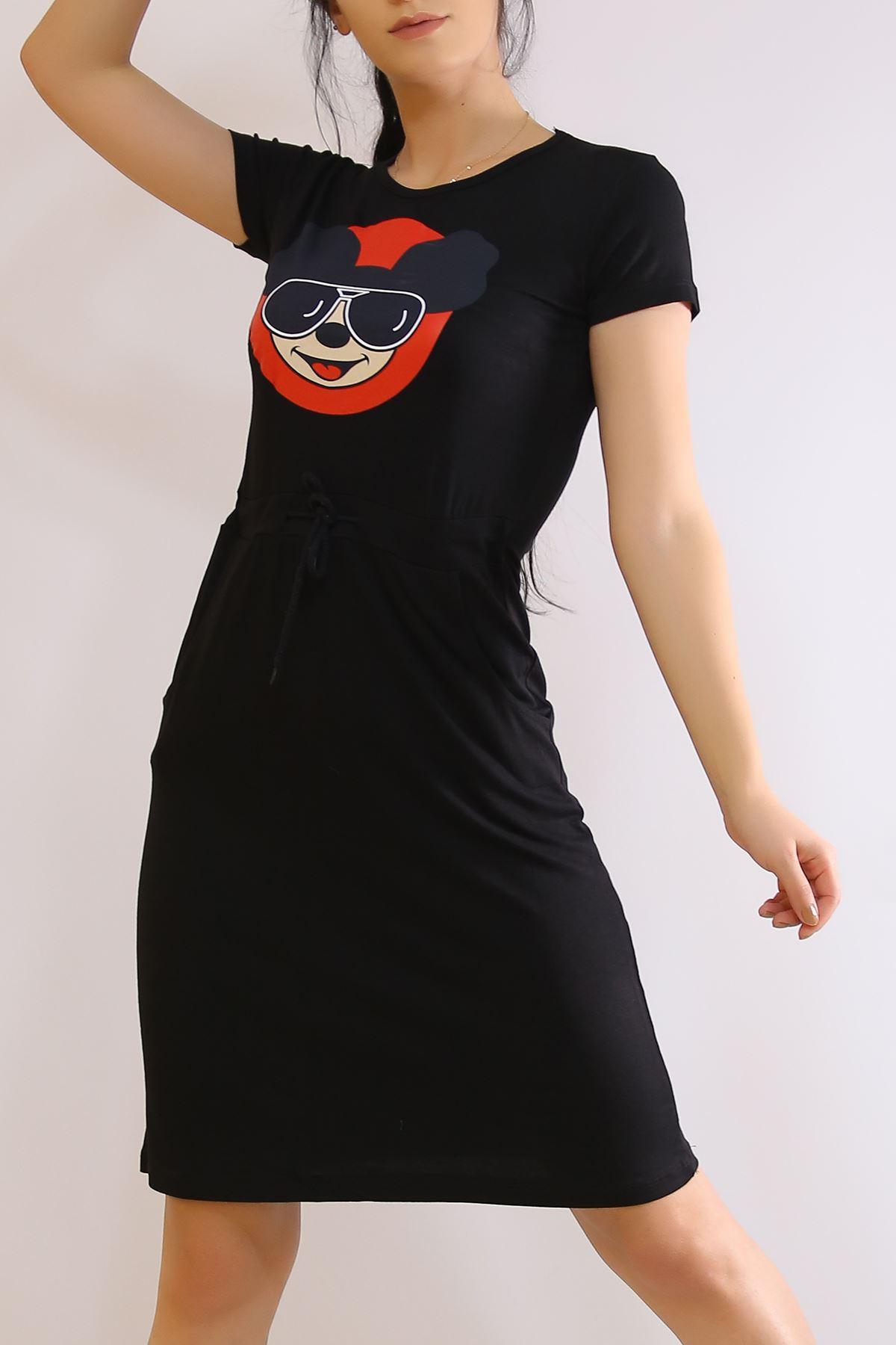 Kısa Kol Cepli Elbise Siyah - 2353.555.