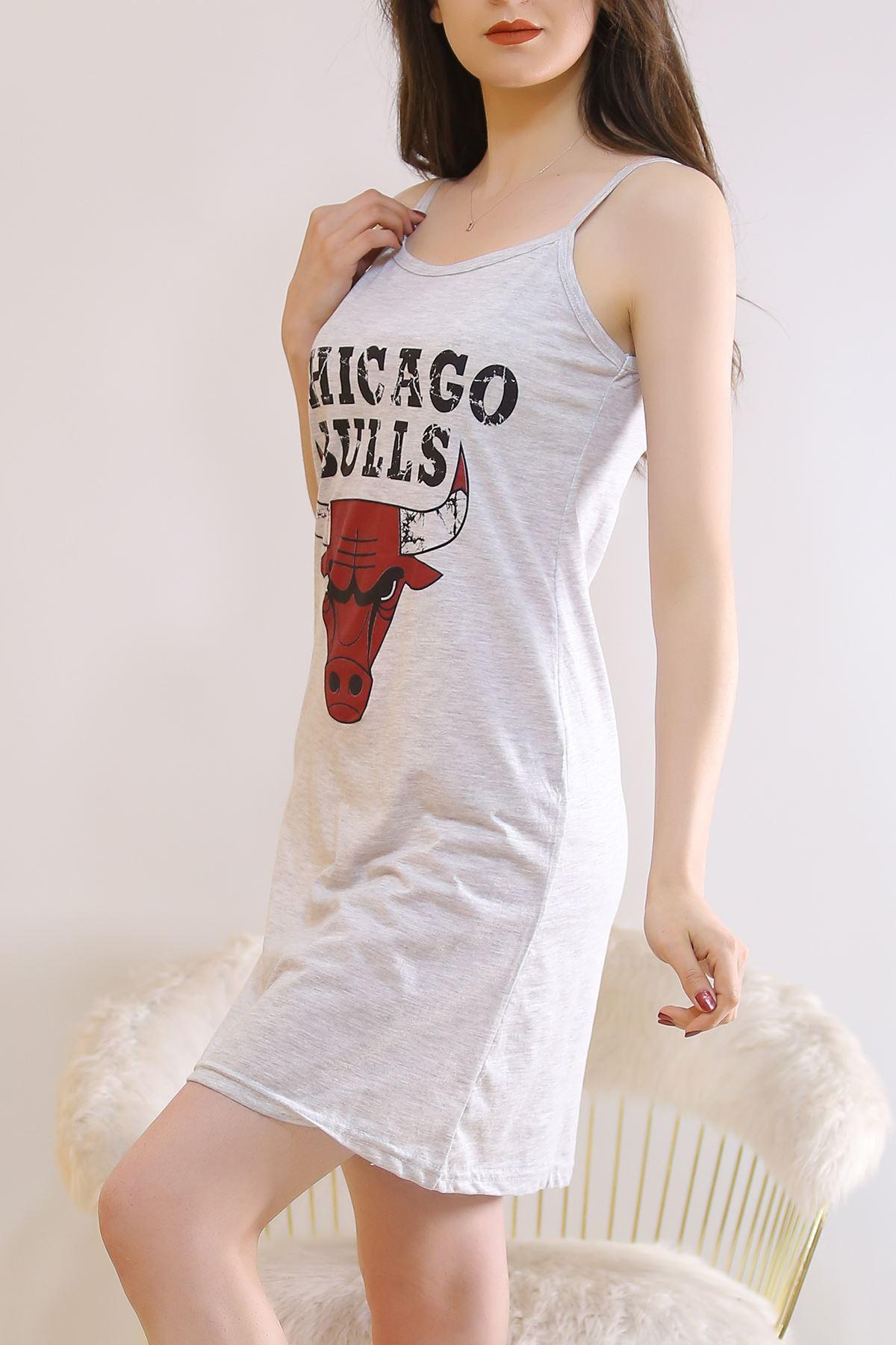 İp Askılı Elbise Gri1 - 5996.1287.