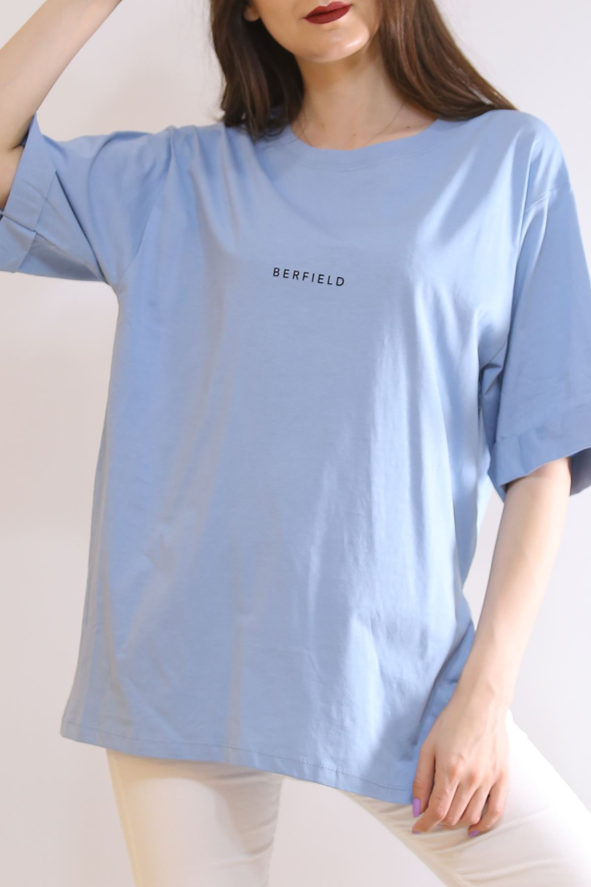 Baskılı Yırtmaçlı Tişört Bebemavi - 3151.105.