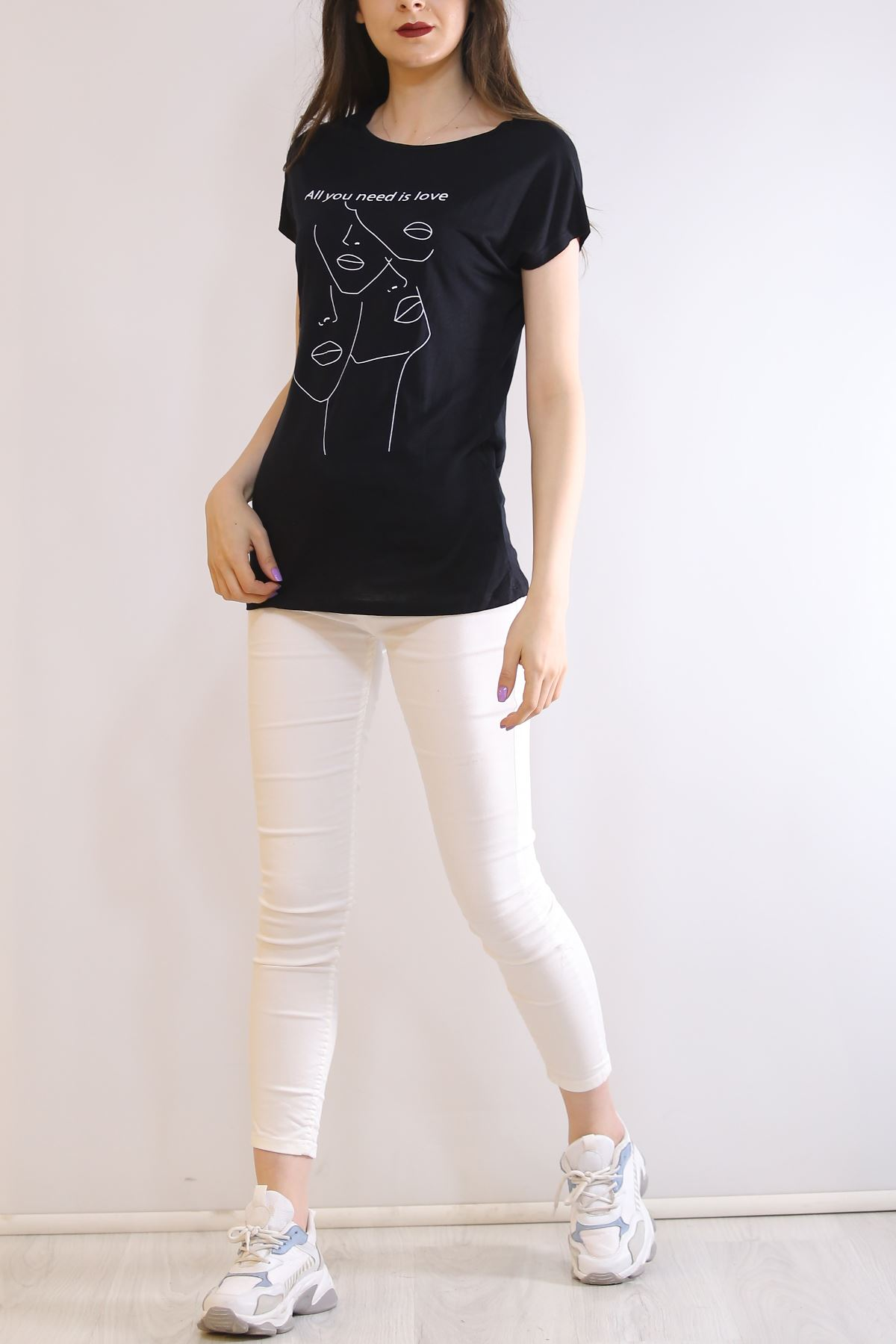 Face Model Tişört Siyah - 20083.200.