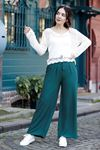 Kemerli Trend Bol Pantolon Yeşil - 0752.128.