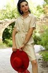 Gömlek Elbise Bej - 4064.128.