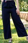 Kemerli Trend Bol Pantolon Lacivert - 0752.128.