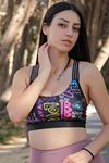 Kadın Balenli Sporcu Büstiyer Renklisiyah - 2856.125.