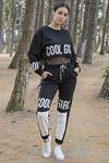 Coolgirl Baskılı Eşofman Takımı Siyah - 8046.135. - y.s