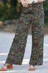 Desenli Bol Pantolon Beyazyeşil - 0753.128.