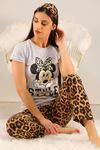 Baskılı Pijama Takımı Gri - 5096.102.