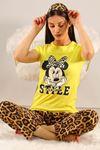 Baskılı Pijama Takımı Sarı - 5096.102.