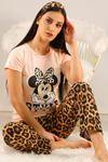 Baskılı Pijama Takımı Somon - 5096.102.