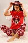 Baskılı Pijama Takımı Kırmızı - 21639.1059.